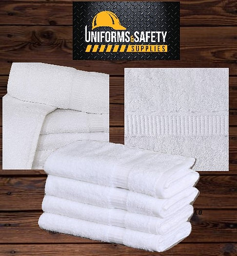 "Large Cotton Salon Luxury Hand Towels (6-Pack,White,16""x30"")"