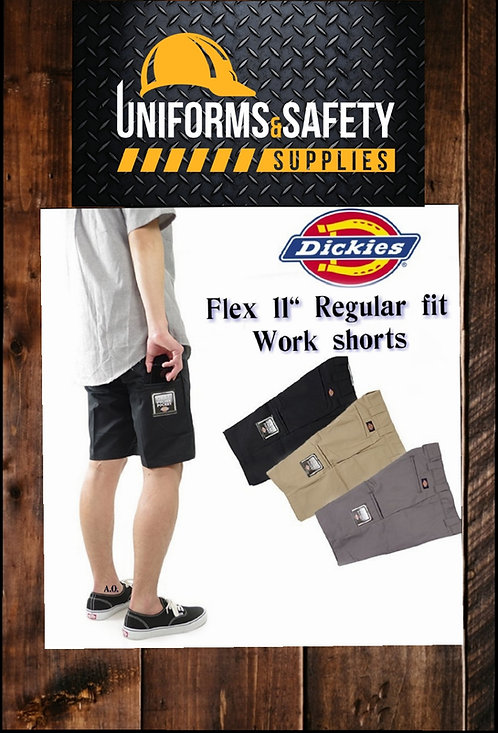 "Dickies FLEX 11"" Regular Fit Work Shorts"