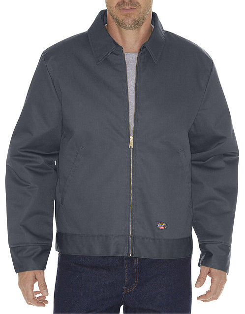 Dickie's #TJ15CH Men's Eisenhower Insulated Zip Up Jacket (Charcoal 2XL-3XL)