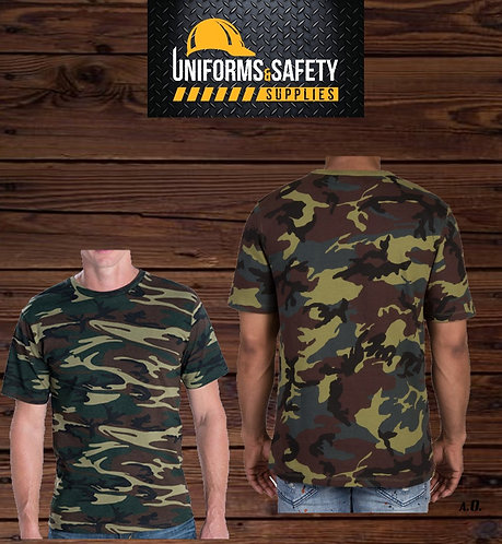 Cotton Heritage Military Camouflage Crew T-Shirt