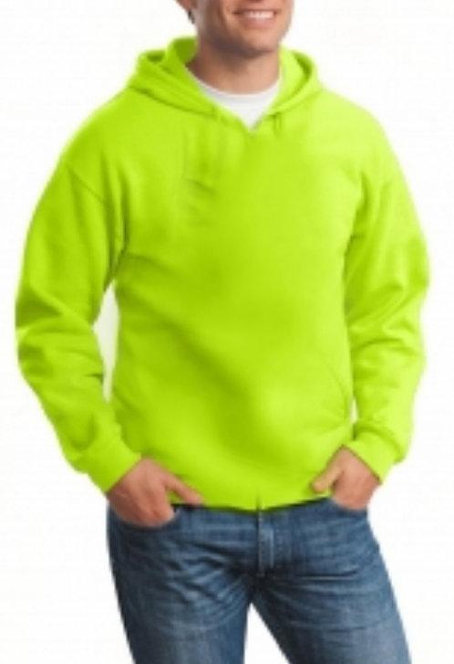 Safety green Lightweight Long Sleeve Hooded Tee