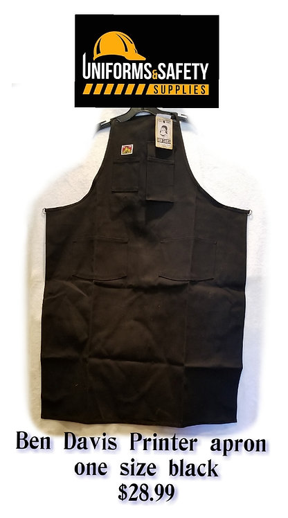 Ben Davis Adult's Printer Apron Black One Size