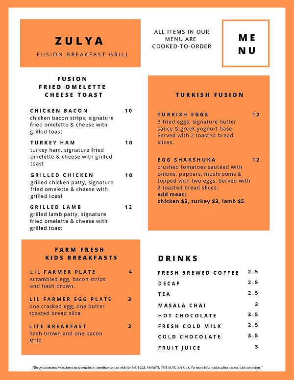Zulya Fusion Breakfast Grill - Menu_Page