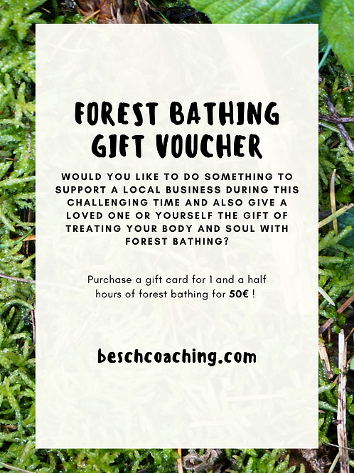 1 and a half hours of Forest Bathing Gift Card