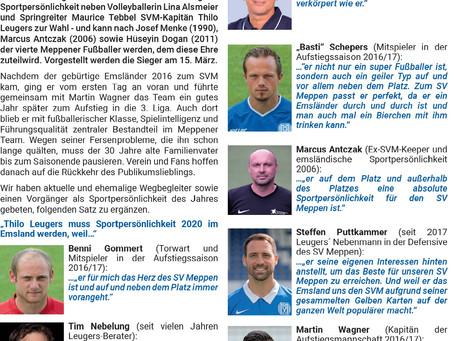 Sportlerwahl 2020 im Emsland: Thilo Leugers nominiert