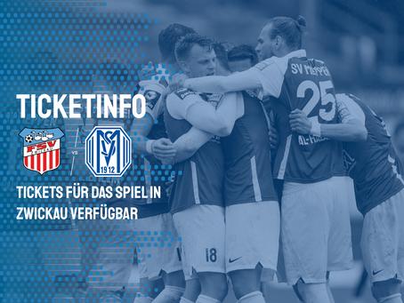 Tickets für das Spiel in Zwickau verfügbar