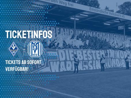 Tickets für das Auswärtsspiel bei Waldhof Mannheim
