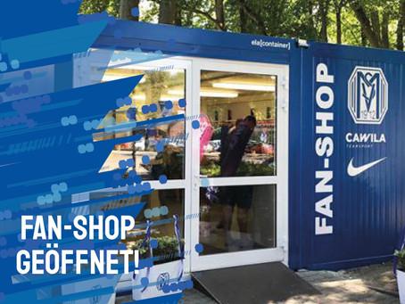 Fanshop geöffnet