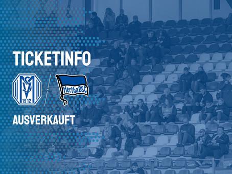 Pokalspiel gegen Hertha BSC ausverkauft