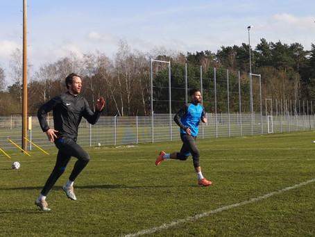 Valdet Rama wieder auf dem Trainingsplatz