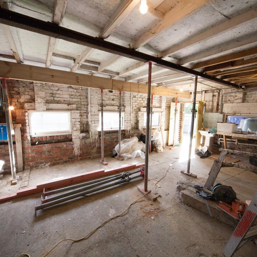 Under House Expansion - Inside