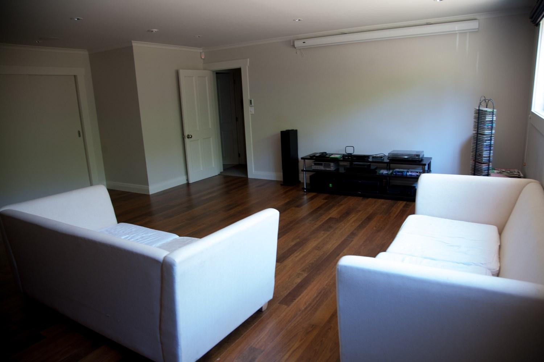 Epsom basement renovation lounge