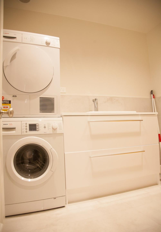 Epsom basement renovation laundry