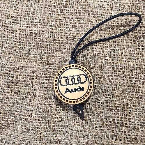 Арома диск с логотипом Audi со вставкой из дерева