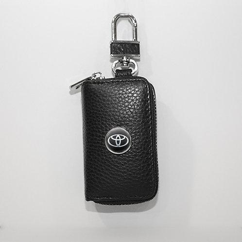 Ключница из натуральной кожи флотер с логотипом Toyota