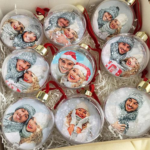 Новогодние шары с фотографиями в Нижнем Новгороде
