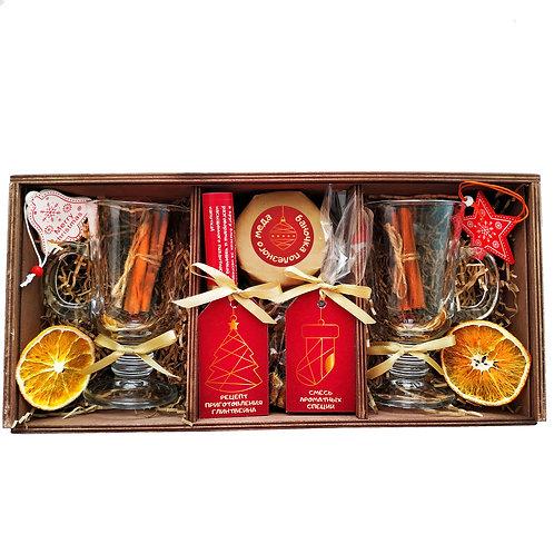 подарочный глинтвейн в деревянном ящике