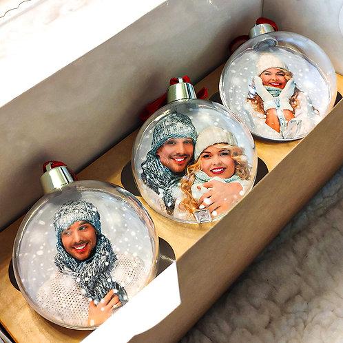 Новогодние шары с фотографиями