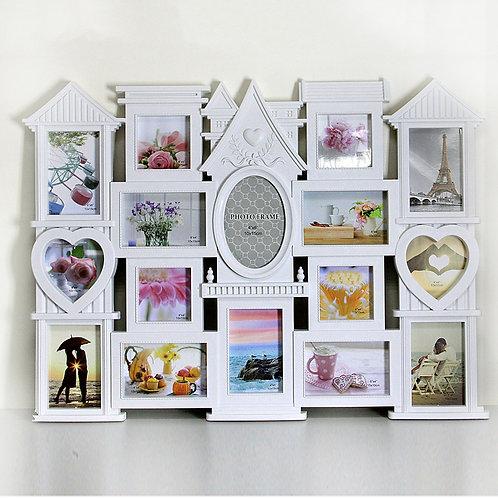 Семейная фоторамка коллаж домик на 16 фото