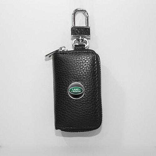 Ключница из натуральной кожи флотер с логотипом Land Rover