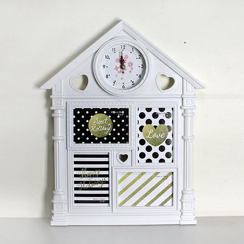 Фоторамка домик с часами