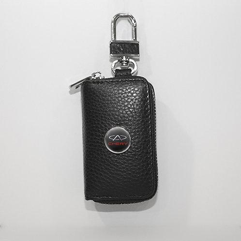 Ключница из натуральной кожи флотер с логотипом Chery