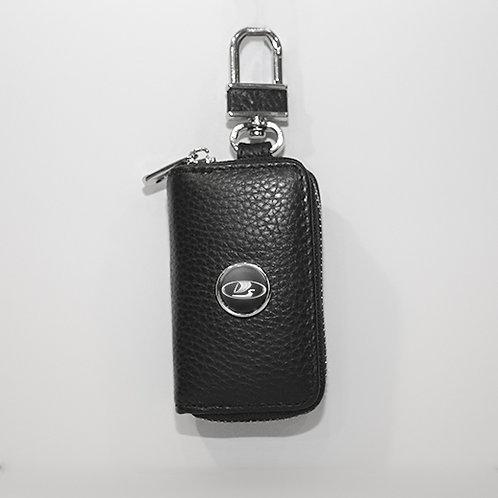 Ключница из натуральной кожи флотер с логотипом LADA