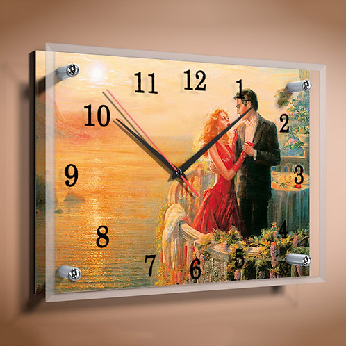 Часы с фотографией прямоугольные