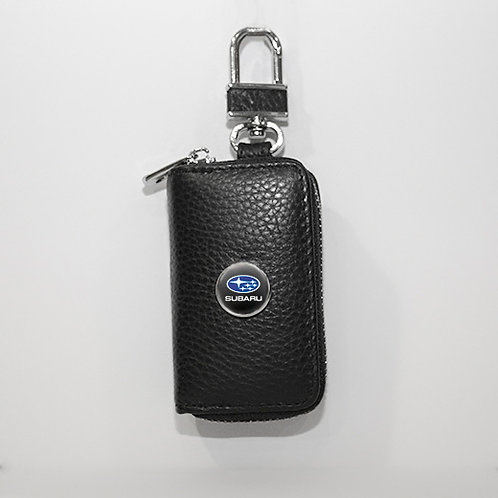 Ключница из натуральной кожи флотер с логотипом Subaru