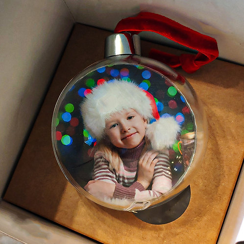 Елочные шары с фото на заказ