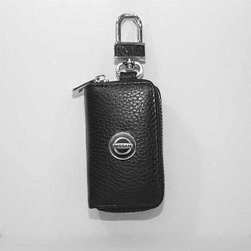 Ключница из натуральной кожи флотер с логотипом Nissan