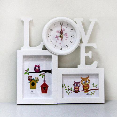 Фоторамка Love с часами