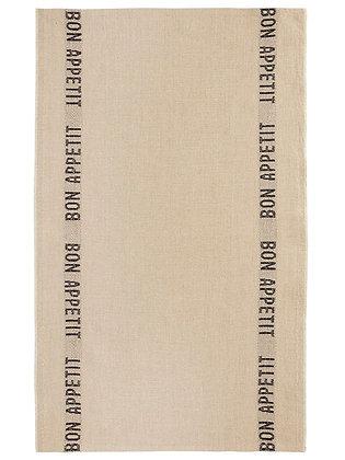 French Linen Towel | Bon Appetit - Linen & Noir