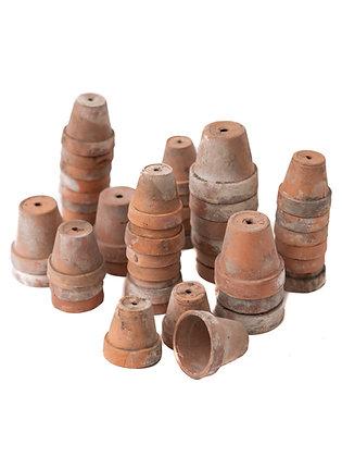 Antique Mini French Terracotta Pots