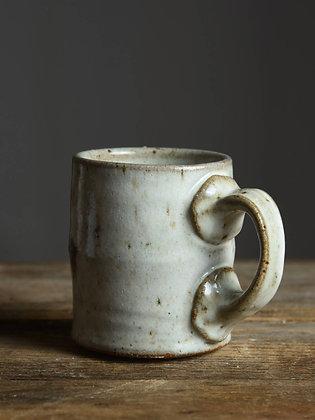 White Weathered Coffee Mug