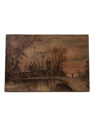 Antique Moody Landscape
