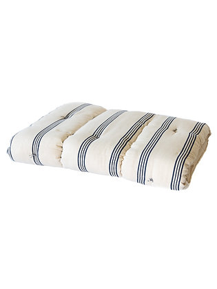 French Mattress Topper - Navy Piano Stripe