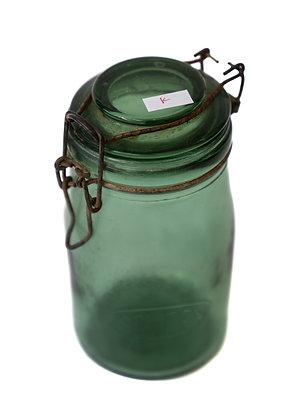 Antique Green French Canning Jar
