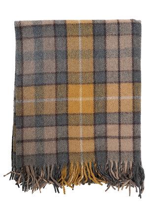 Scottish Wool Blanket in Buchanan Natural Tartan
