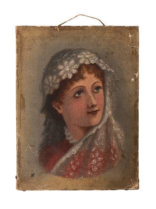 Antique Mini Portrait Painting