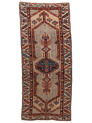 Large Antique Handwoven Wool Runner