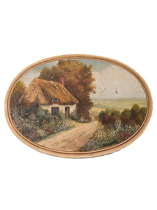 Vintage Cottage Painting