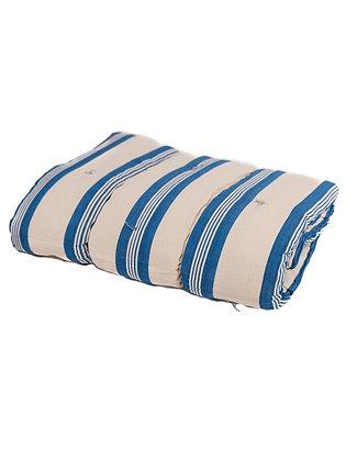 French Mattress Topper - Wide Blue Ticking Stripe
