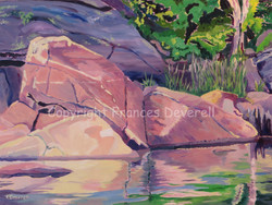 Rocks and Water 18X24