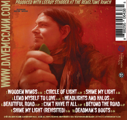 Dave McCann and The Firehearts Circle of Light Back Cover