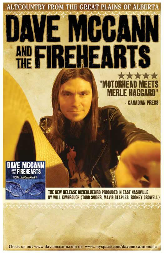 Dave McCann and the Fireheart - Dixiebluebird Poster