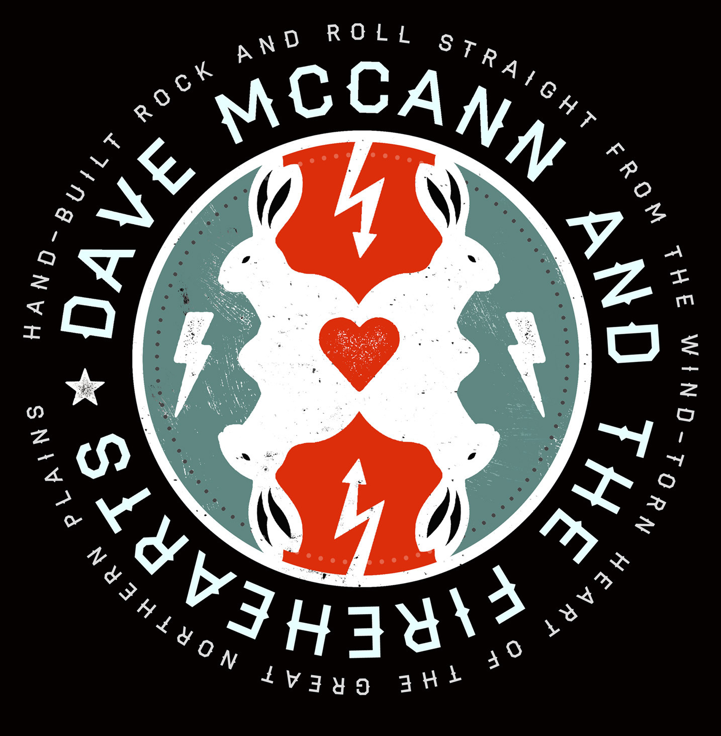 Dave McCand and the Firehearts  T Shirt logo