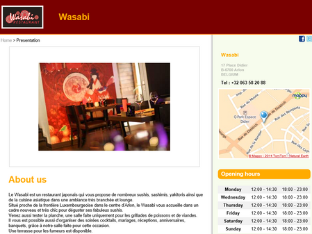 """Collaboration avec le restaurant """"Wasabi"""" d'Arlon"""