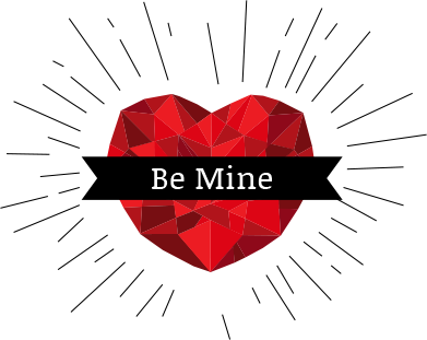 """Be Mine"" Heart"