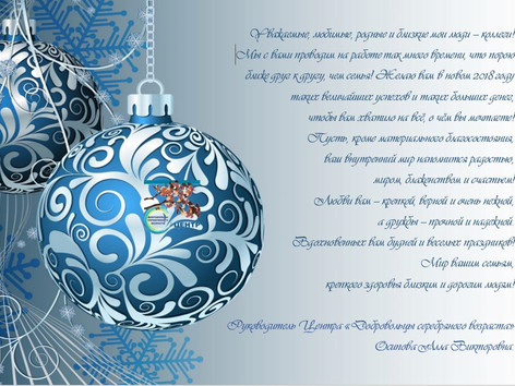 С Новым Годом дорогие серебряные ДОБРОВОЛЬЦЫ!